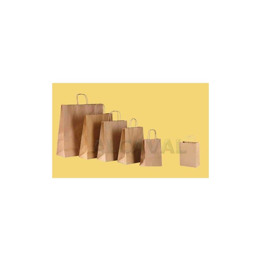 432a69f30 Bolsa de papel kraft , asa rizada papel primera calidad muy resistente