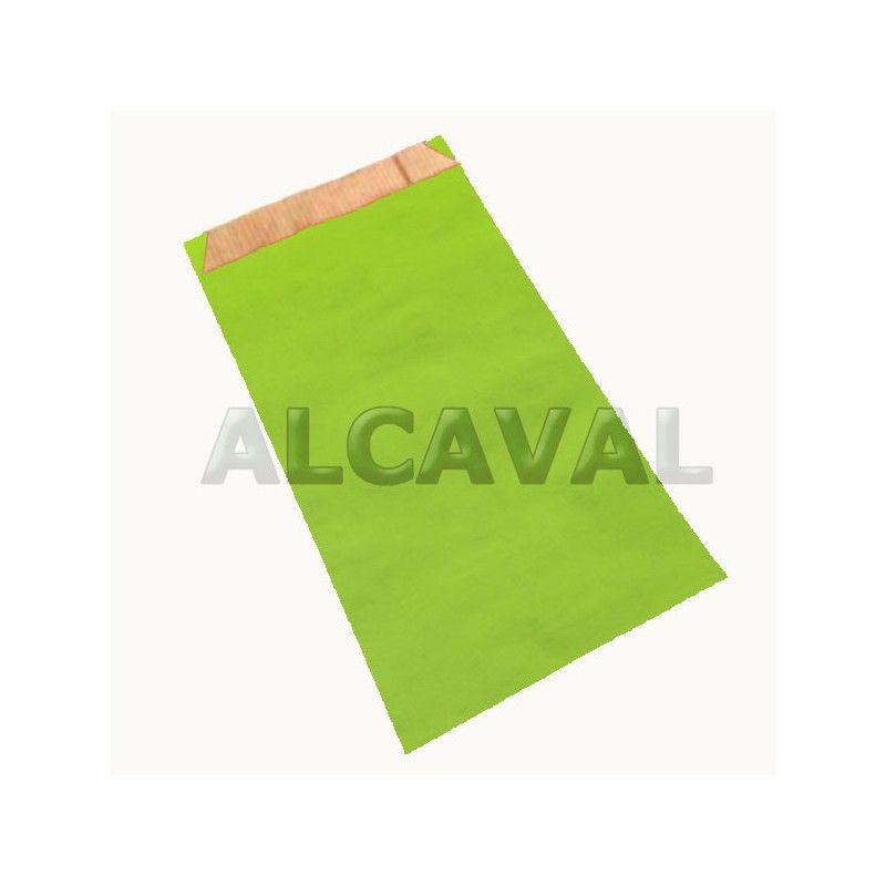 Sobres de papel de regalo verde pistacho, paquete de 50 unidades (7 medidas disponibles).