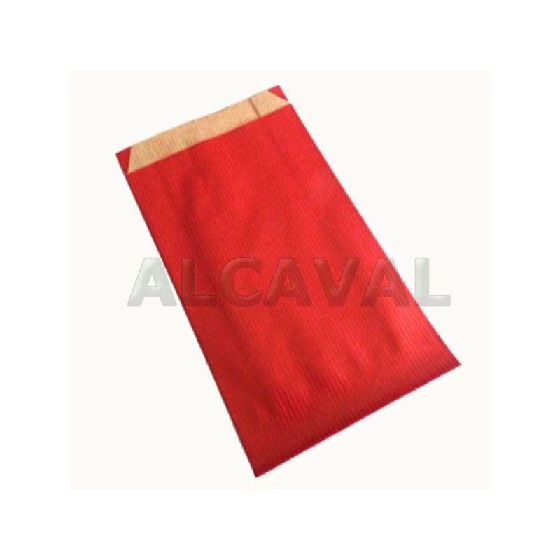 Sobres papel de regalo rojo, paquete de 50 unidades (7 medidas disponibles).