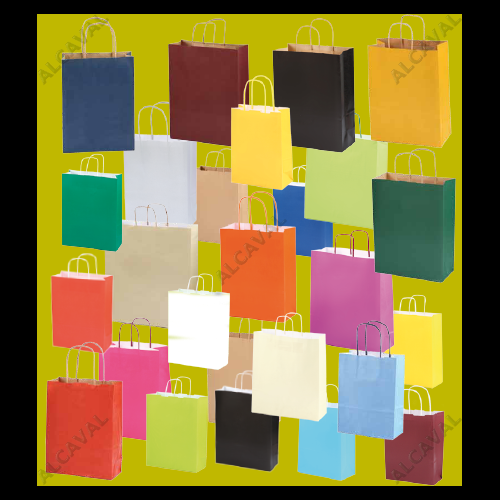 Bolsas de papel medianas grabadas