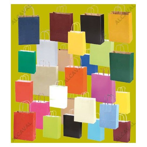 500 Bolsas de papel impresas medianas 32x41+12