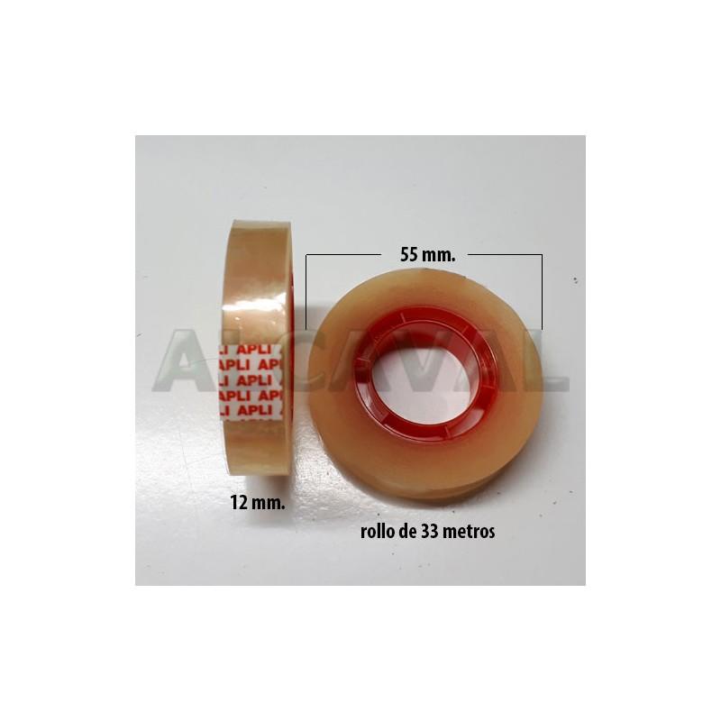 330 Rollos de cinta adhesiva transparente , celo marca apli