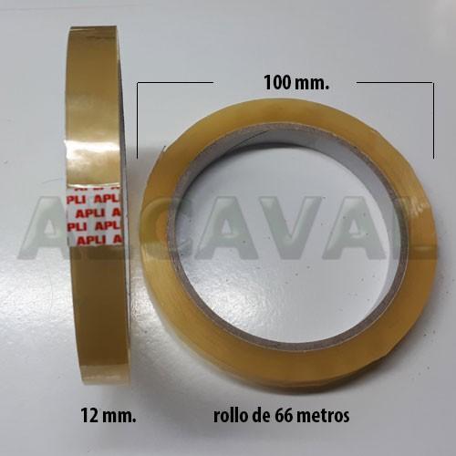 OFERTA 144 Rollos de cinta adhesiva transparente , celo marca apli 12 mm. de ancho por 66 metros