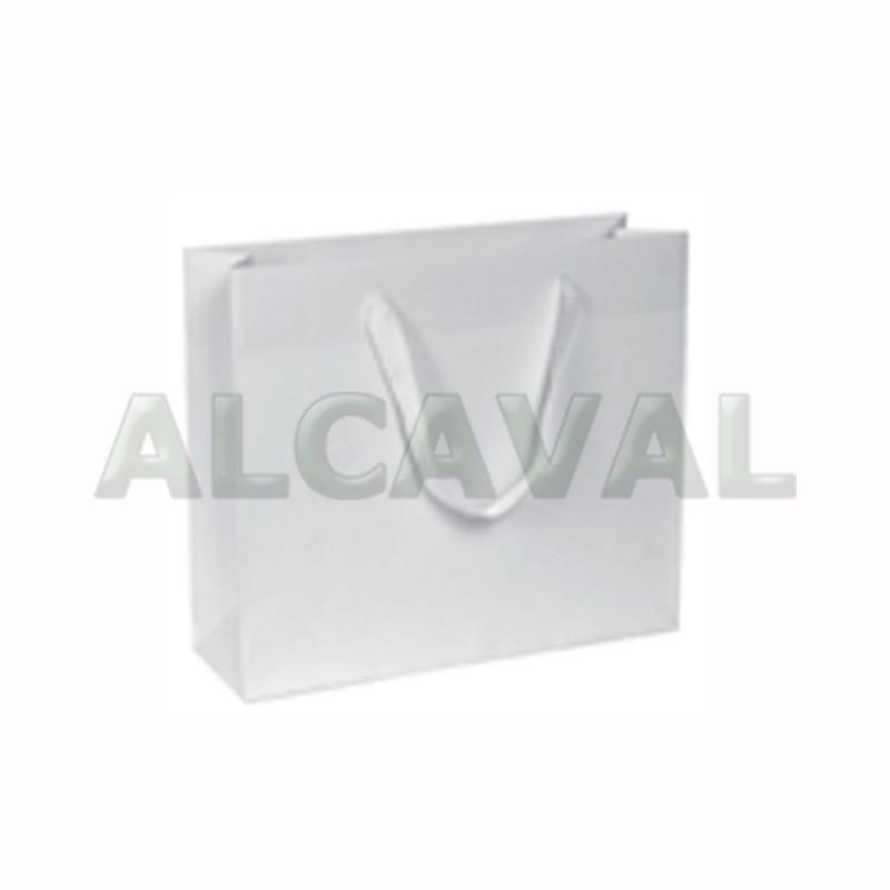 bolsa de papel lujo blancas