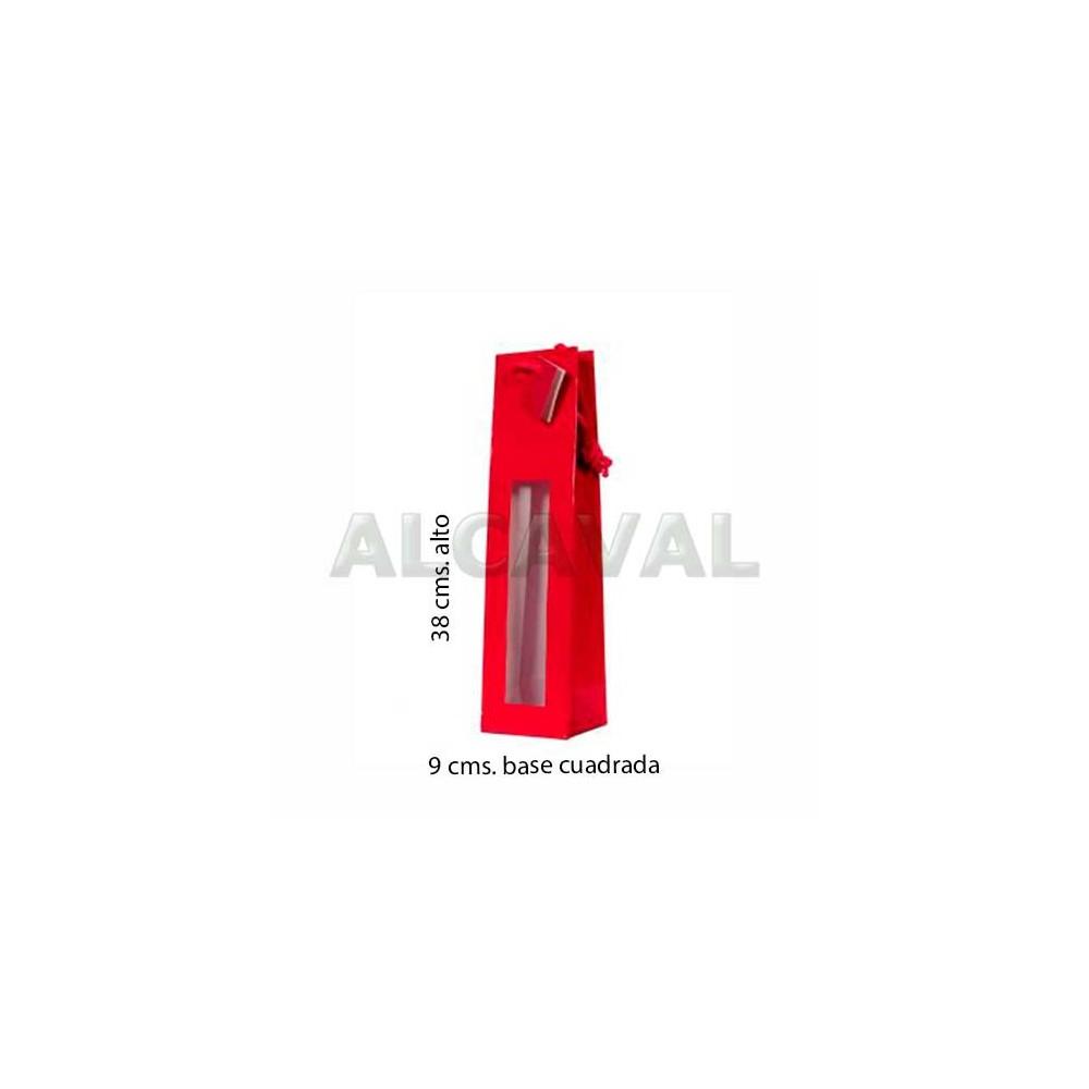 e18a7207e bolsas para botellas de vino color roja con ventana