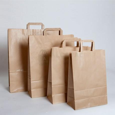 bolsas de papel asa plana kraft verjurado