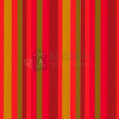 papel de regalo rojo con rayas