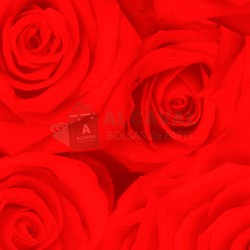 Papel de regalo barato decorado flores rojas