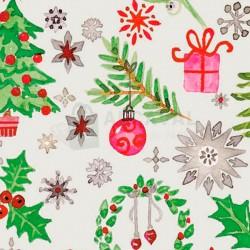 Papel regalo barato navideño