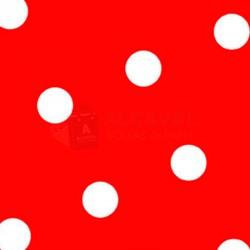 Papel regalo rojo a lunares blancos