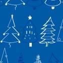 Papel de regalo azul y dorado