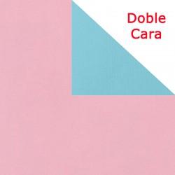 Papel regalo bicolor rosa y azul 50 o 100 metros