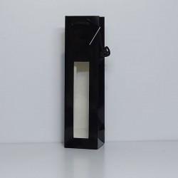 bolsas para botella negra con ventana