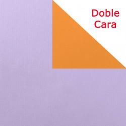 Papel regalo bicolor lila y naranja