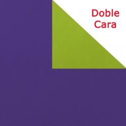 Papel regalo bicolor doble cara morado y pistacho