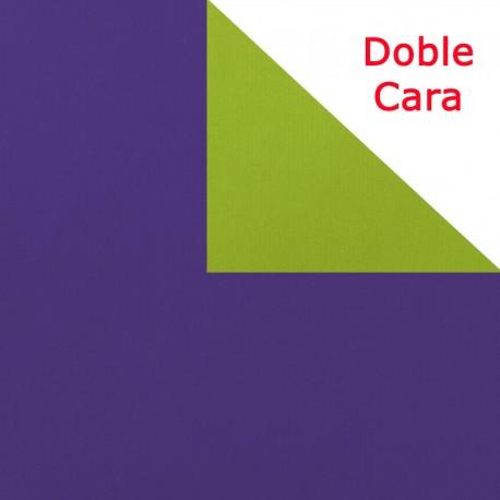 Papel regalo bicolor doble morado y pistacho