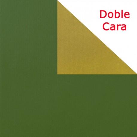 papel de regalo oro y verde