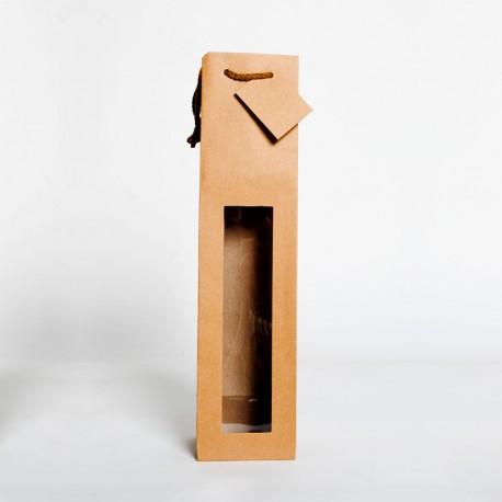 bolsa de papel 1 botella grande con ventana
