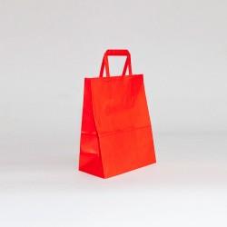bolsas de papel asa plana roja