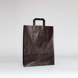 Bolsa de papel negra con asa plana negro