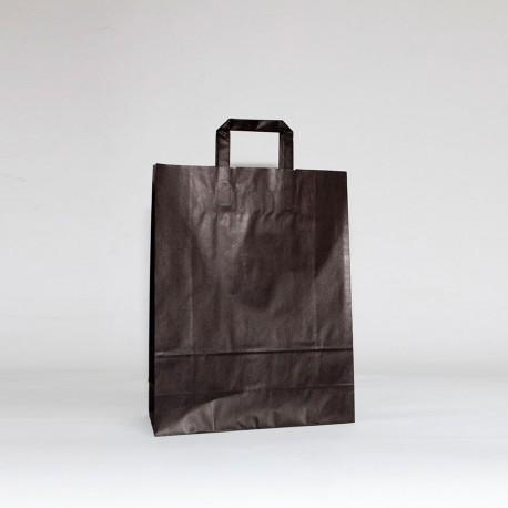 bolsas de papel asa plana negra