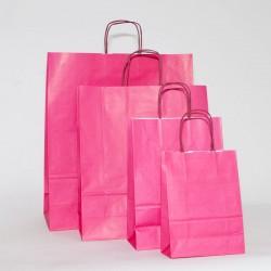 bolsas de papel asa retorcida fuxia