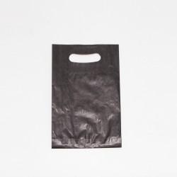 Bolsa de papel asa troquelada de color negro