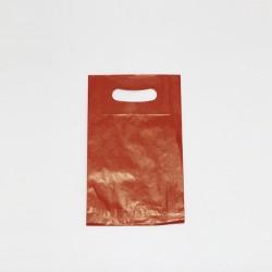 Bolsa de papel roja , asa troquelada