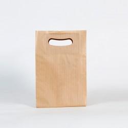 Bolsa de papel muy barata asa troquelada kraf