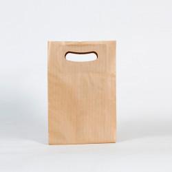 Bolsa de papel muy economica asa troquelada kraft