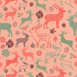 papel regalo navideño en papel reciclado