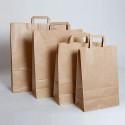 Bolsas de papel con asa plana impresas