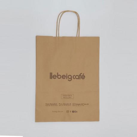 Bolsas de papel ecologica con asa retorcida