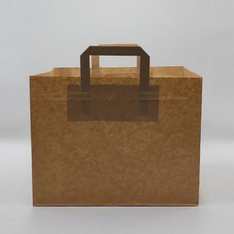 Bolsas de papel takeaway comida para llevar