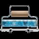 Portabobinas papel regalo 70+35 centimetros mostrador (Horizontal) niquelado plata