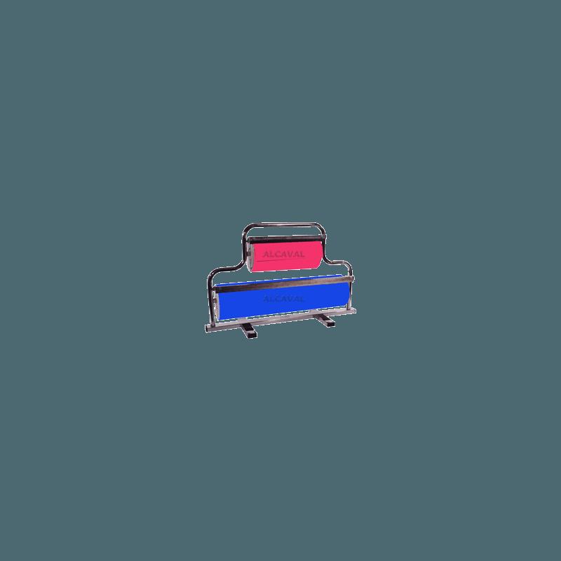 Portabobinas papel regalo 62+31 centimetros mostrador (Horizontal) niquelado plata