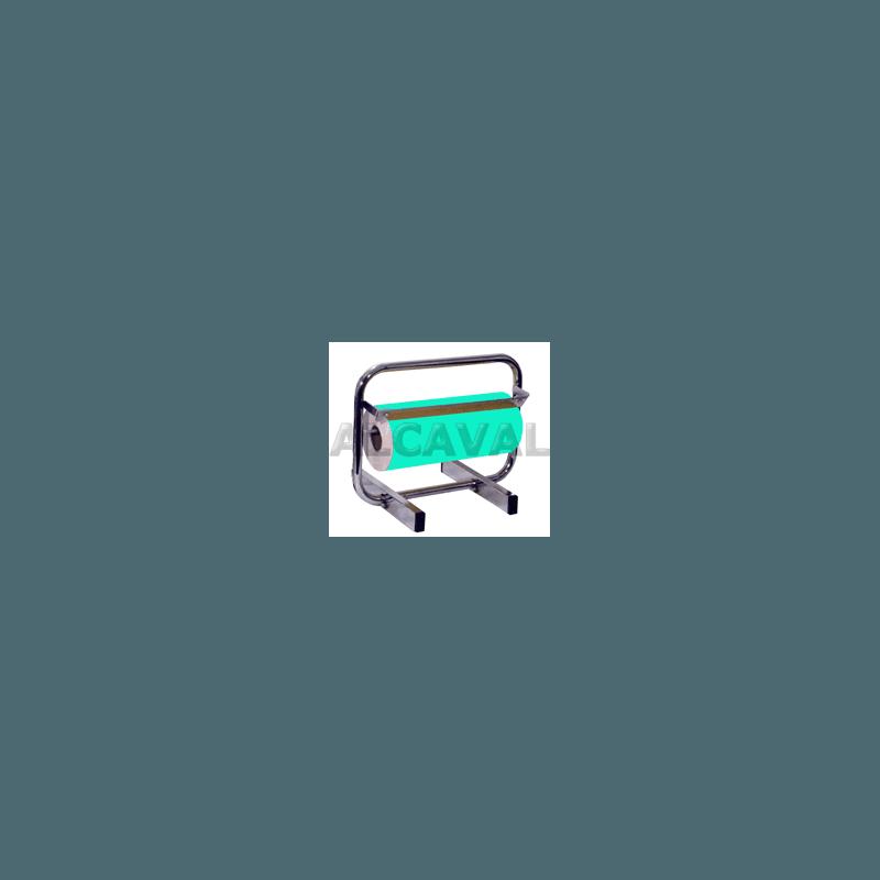 Portabobinas papel regalo 35 centimetros mostrador (Horizontal) niquelado plata