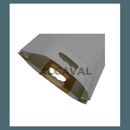 Bolsa de papel plata, asa troquelada. (3 medidas disponibles).