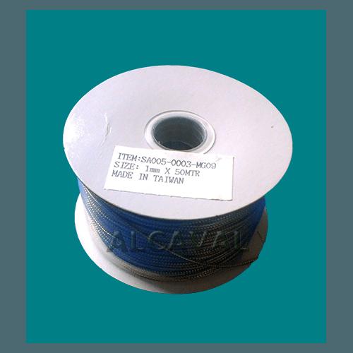 Cordón textil fino color oro rollo de 50 metros para decorar tus regalos