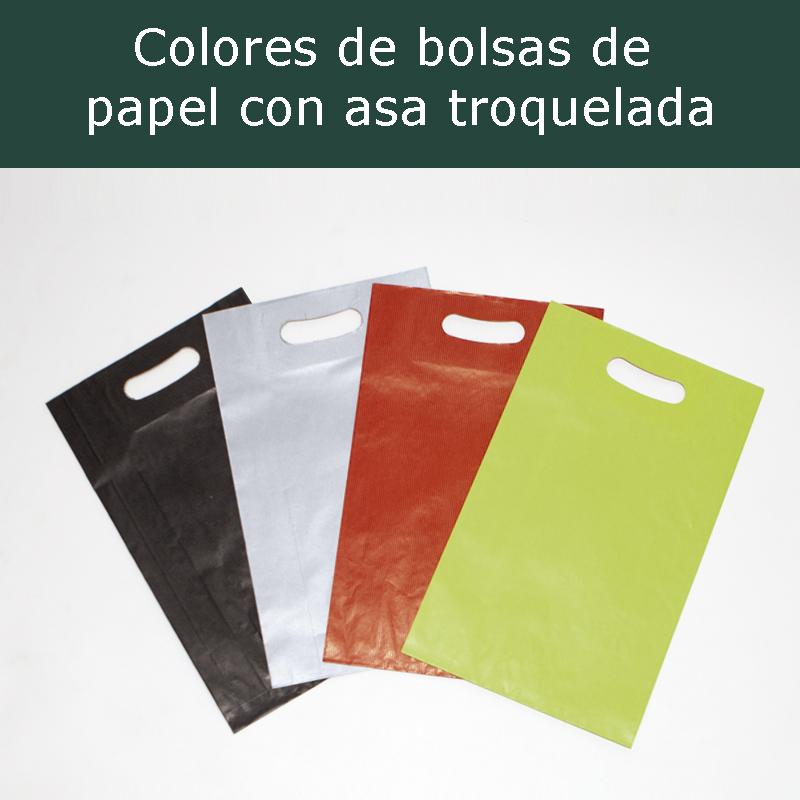 Colores de las bolsas de papel con asa troquelada
